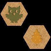 Autumn Wind Elements- hexagon