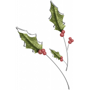 Christmas Cuties Flowers - holly 02