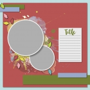 Christmas Cuties Layout Template - Template 01