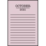 Calendar Pocket Cards Plus - october 07