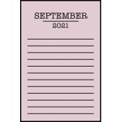 Calendar Pocket Cards Plus - september 07