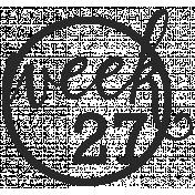 52 Weeks Stamps- Stamp 27