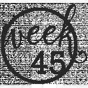 52 Weeks Stamps- Stamp 45