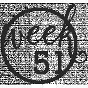 52 Weeks Stamps- Stamp 51