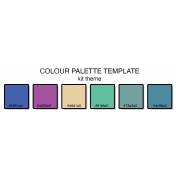 Colour Palette Template (6 colours)