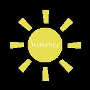 Summer Sun Word Art