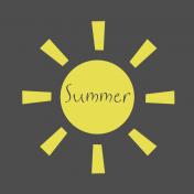 Summer Sun Cut Out Word Art