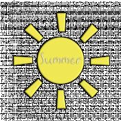 Sun Summer Word Art