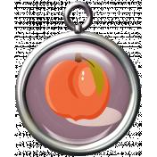 Peach pendant