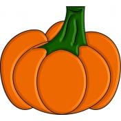 Enamel or glass look pumpkin