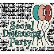 Corona virus - Covid 19 Social Distancing word art