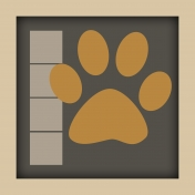 Paw Print Layout Template