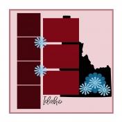 Layout Template: USA Map – Idaho
