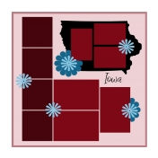 Layout Template: USA Map – Iowa