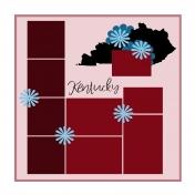 Layout Template: USA Map – Kentucky