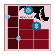 Layout Template: USA Map – Maryland