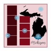 Layout Template: USA Map – Michigan