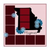Layout Template: USA Map – Missouri