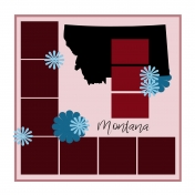 Layout Template: USA Map – Montana