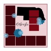 Layout Template: USA Map – Nebraska