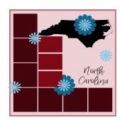 Layout Template: USA Map – North Carolina