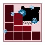 Layout Template: USA Map – Oregon