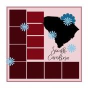 Layout Template: USA Map – South Carolina