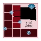 Layout Template: USA Map – South Dakota