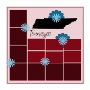 Layout Template: USA Map – Tennessee