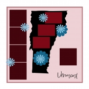 Layout Template: USA Map – Vermont