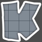 Alphabet Layout Template Letter K