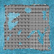 Blue Burlap Edges