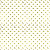 Butterfly Yellow Glitter Paper