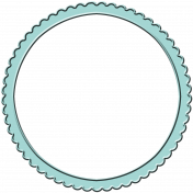 Spring Sparkle Aqua Frame Circle