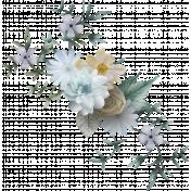Delicate blue floral cluster