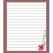 Journal Card with Flower