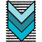 Blue chevron