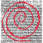 Red Spiral Stamp