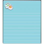Flower Journal Card-Blue