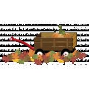 Wagon with Pumpkin