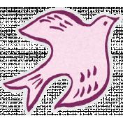 Pink Dove Sticker