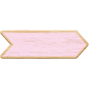 Pink Wooden Arrow