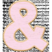 Pink Wooden Ampersand