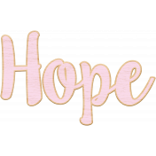 Pink Wooden Hope