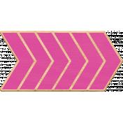Pink Wooden Arrow 2