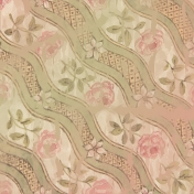 Vintage Pink Rose Pattern Watercolor
