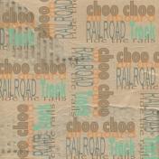 Train Word Art Paper