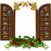 Stained Glass Window Frame to insert photo behind