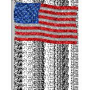 Glitter Flag