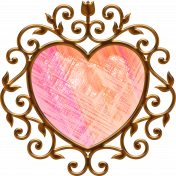Stained Glass Copper Heart
